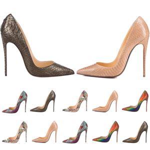 Mulheres Vestido Sapatos Vermelho Botão Alto Saltos Mulheres Luxurys Designers Genuíno Bombas de Couro Senhora Sandálias Casamento Bottoms com caixa 040904
