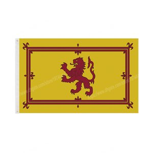 Scotland Royal Flag Lion Crest German Germany Flags 90 x 150cm 3 * 5ft Custom Banner Metal Holes Grommets Indoor And Outdoor can be Customized