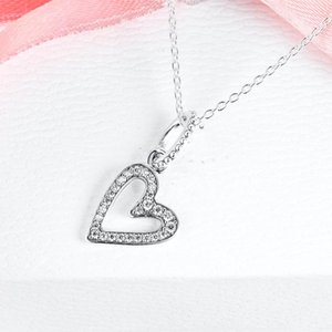 Mother's Day Freehand Heart Necklaces Choker Pendant 925 Sterling Silver Jewelry Chain For Woman Chains
