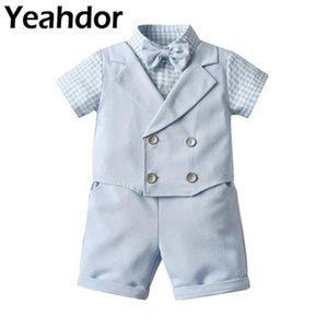 Tuxedos 2Pcs Baby Boys Formal Suits Kids Gentleman Outfit Birthday Party Christening Baptism Wear Flower Clothes Wedding Dress Suit