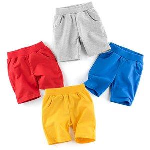 Erkek Kız Çocuk Çocuklar Için Şort Bebek Yaz Kısa Pantolon Pamuk Pantolon Katı Düz Renk Rahat Giyim 1-10 Yıl