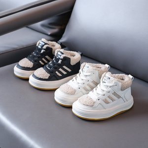 Baby Shoes 2021 Winter Children's Plush White Low State Leisure Snow Warm Boys' and Girls' Cotton
