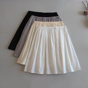 Women's Sleepwear 2021 Pure Cotton Half Length Petticoat Anti Light Penetration Safety Short Skirt Medium Lining Women Daily Underdress