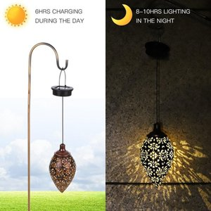 Hanging LED Solar Light Lamp Outdoor Waterproof Solar Powered Lights for Patio Garden Courtyard Pathway Lawn Street Decoration
