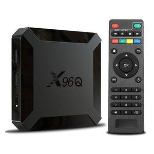 TV Box Android 10 X96Q 2.4G Wifi Allwinner H313 Quad Core 1G 8G 2GB 16GB 1080P Media Player X96 Q 4K Smart Set Top Wholesale X96QAndroid TVBox X 96Q for Moving