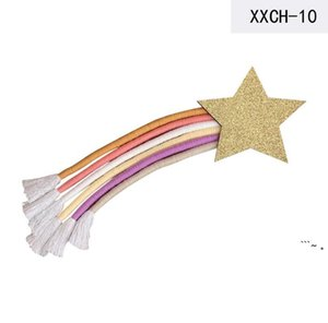 INS Nordic Rainbow Tassel Wall Hanging Figurines Ornaments Room Decoration Hair Clips Hanger Organizer Strip Kids Wind Chimes Props OWC7093