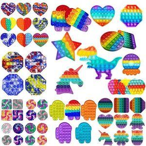 Rainbow PUSH IT Fidget Toy Bubble Autism NECESIDADES ESPECIALES NECESIDADES ANSIADORA ANTISIO ANTISIO PARA LOS TERTENOS DE OFICINA FLUORESCEN