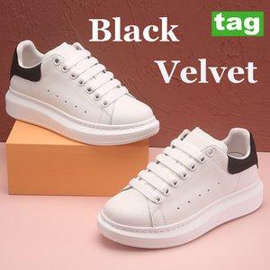 Platform Rahat Ayakkabılar Üçlü Beyaz Siyah Kadife Deri Kuyruk Yansıtıcı Gökkuşağı Çok Renkli Bağcıklar Metalik Gümüş Bordo Kauçuk Moda Erkek Bayan Sneaker