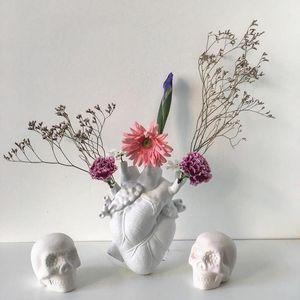 Золотая белая сердце керамическая ваза ваза вазы домашний декор растение горшок современная любовь в стенке цветения для свадебного подарка