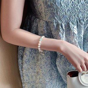 Bracelet en pendentif en pierre naturelle en strass en strass pour femme exquise nouvelle chanceuse bracelets Valentines cadeau 108 W2