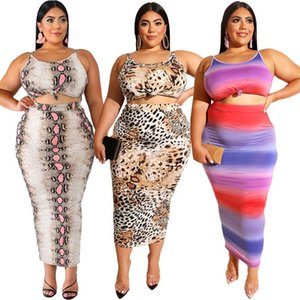 Summer Plus Size Women Tracksuit Tie Dyeing Print Top And Long Pants 2 Piece Set Female Casual Suits XL-5XL Two Dress