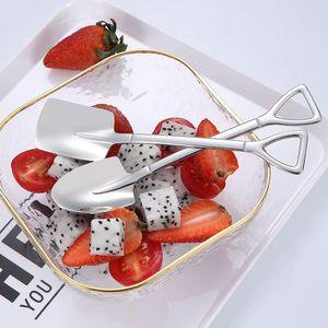 Flatware Kitchen, Dining Bar Home & Garden Drop Delivery 2021 304 Stainless Steel Creative Tip Flat Shovel Spade Coffee Dessert Ice Spoon Wat