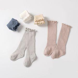 Lawadka criança princesa meninas meias joelho infantil meias altas com laço bebê perna aquecedores estilo primavera de algodão 918 x2