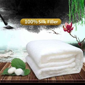 High Grade Home Chinese Quilts Handwork Mulberry Comforters 100% Filled Silk Blankets Comfortable Cotton Cover
