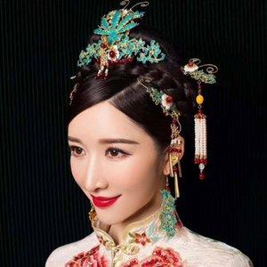 Neue chinesische Braut Kopfschmuck Set Hochzeitsdrache und Phoenix Jacke Zubehör High Grad Atmosphere Prinzessin Quaste