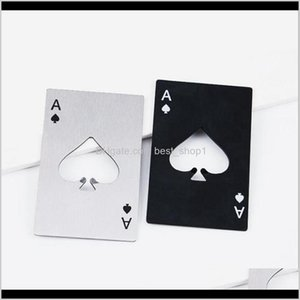 Kitchen Dining Home Garden Drop Delivery 2021 Poker Stainless Steel Openers Bar Credit Card Soda Beer Bottle Opener Gifts Kitchen Tools Cyz29