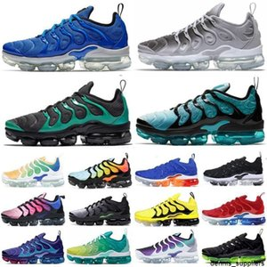 Artı TN Koyu Sıva Erkek Koşu Ayakkabıları Gümüş / Gri / Beyaz Kadın Sneakers Spor Eğitmenler Rahat Yaşam Tarzı Tenis Ayakkabı Üçlü Siyah Beyaz