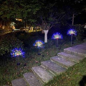 Solar Lamp String Lawn Dandelion Ground Plug Strings Lights Fireworks Waterproof Lighting Chains Garden Decoration Outdoor 22qk3 K2 7IR2