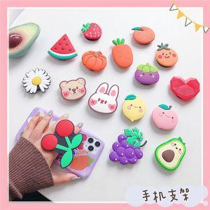 Adorável desenhos animados Fruta Forma Suporte Suporte Apoio de Dedo Apoio Redondo Telefone Celular Kickstand para iPhone Samsung Huawei Xiaomi Celular