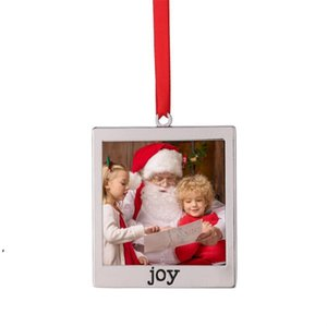 Christmas Pendant Sublimation Frame Shape Ornaments Metal Thermal Transfer Printing Ornament Blanks Customized Gift Diy Tree Decore DWA8682