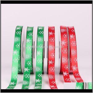 25Yardsroll Christmas Ribbon Chrismas Wedding Decoration Cake Candy Box Wrap Gift Diy Packaging Ribbons Party Supplies Dbc Cfj3J Vip4K