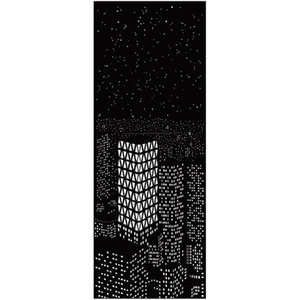 Curtain & Drapes Blackout Curtains Privacy Home Decor City Night View Design Thermal Insulated For Bedroom Living Room