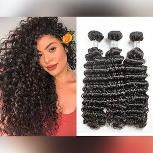 Malaysian Indian Brazilian Virgin Remy Bundles Peruvian Straight Body Deep Water Wave Jerry Kinky Curly Natural Color Human Hair Extensions Weaves