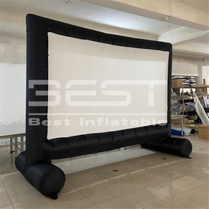 Custom Inflatable movie screen for outdoor events giant projector film scrn Happy Family Gathering