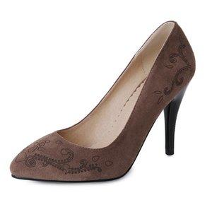 Zapatos de vestir a principios de la primavera de 2021 La multa sexy con tacones altos Tamaño 32 Boca poco profunda Mujer Punto 18327-44