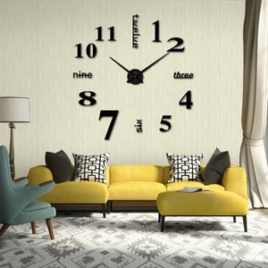 Wall Clocks Acrylic Modern DIY Clock 3D Mirror Surface Sticker Home Office Decor Drop Mar05