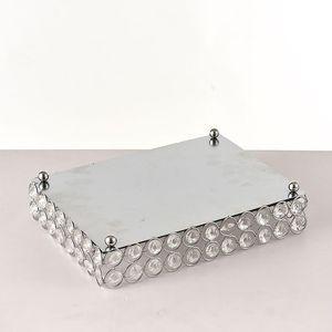 Crystal Makeup Organizer Mirrored Crystal Vanity Tray Decorative for Perfum, Jewelry Makeup Bathroom Organizer Y1113 398 Y2