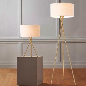 Floor Lamps Modern Led Lamp Nordic Iron Tripod For Living Room Bedroom Decor Light Home Interior Lighting Standing