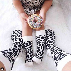 Leopard Printed Unisex Adult Men Women Kids Long Cotton Socks Family Matching Parent-child Socks Mummy Daughter Dad Son Socks