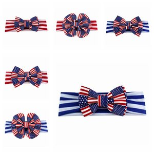 Amerikanische Flagge Stirnband für Baby Mädchen 4. Juli Unabhängigkeit Tag Dekorationen Haarwäsche Dekor Patriotisches Zubehör Cheerleader Haar Bögen
