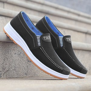 J6LZ 2021 spring sports new canvas cloth casual Korean breathable lazy board men's shoes M305 I3NX I3NX