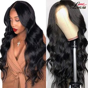 4*4 Lace Closure Wig 28 30 inch Body Wave Pre-Plucked Human Hair Wigs Lace Wig Indian Peruvian Hair Body Wave