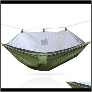 Activities Leisure Games Sports & Outdoors Drop Delivery 2021 Anti-Mosquito Hammock In The Summer, Outdoor Travel, Camping Sleep Noirc
