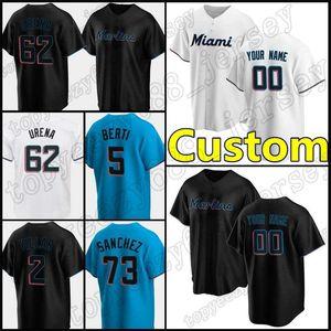 15 Brian Anderson Miami Custom 5 Jon Berti Tracks Marlins 19 Miguel Rojas Бейсбол 13 Старлин Кастро 16 Хосе Фернандес 55 Ryne Stanek