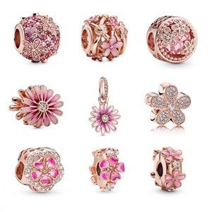 S925 Family Charm Diy Beads Fit Pandora Style Charms Braclets для европейской розовой золотой браслет Collier