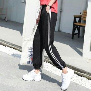 Women's Pants & Capris Long Leisure Women Bottoms Autumn Spring Female Clothes Double Striped Jogger Haren Sweatpants Sportswear Trousers