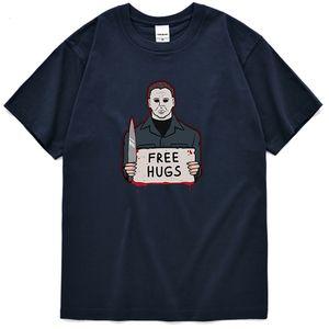 Abbigliamento da uomo Texas Chainsaw Massacre Print T Shirt Tinta unita Solid Color Crewneck Sportswear Slim Streetwear Comodo Top