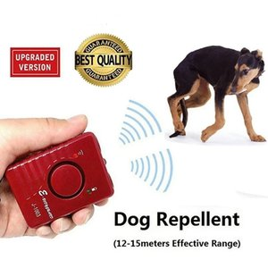 Original Ultrasonic Dog repeller Powerful Repellent Sonic Deterrent Pet Chaser Super Rechargeable With LED Light