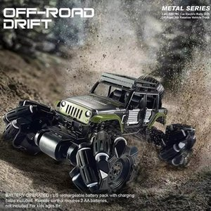 116 Alloy RC Car 2.4Ghz 4CH Stunt Drift Crawler Dual Remote Control Car 360 Degree Flip Vehicle Climbing Car Toys for kids gift