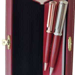 Stylo à bille de stylo de stylo bleu de luxe marque de la marque bureau école écriture fournisseur stylos cadeaux et boîte rouge Opthion