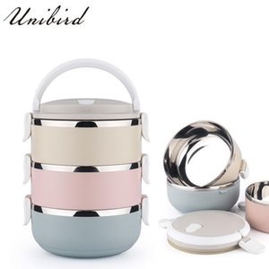 Dinnerware Sets Unibird 3-Layer 2.1L Stainless Steel Lunch Box Thermo Bento For Kids Thermal Container Insulation Storage
