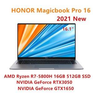 Laptops Original HONOR Magicbook Pro 16 2021 Laptop 16.1 Inch AMD Ryzen R7-5800H RTX 3050 16GB 512G High Refresh Rate Windows 10