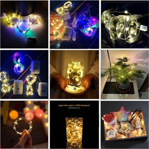 LED String Light 0.5M 1M 2M 3 Modes Silvery Copper Wire Battery Operated Strings Lamp Christmas Wedding Party Decoration Fairy Lights