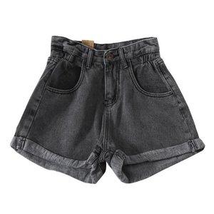 Denim 2020 New High Tail Shorts Women Casual Losse Ladies Fashion Big Mate Elastic waist696