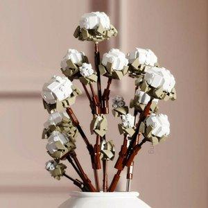 Cotton Flower Bouquet Plant Decoration Action figures Educational Children DIY Home Ornaments Birthday Toys