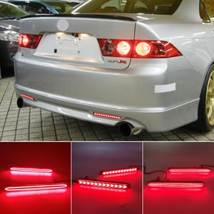 2PCS Auto LED Rear Bumper Reflector Light For Honda Acura TSX For Accord Odyssey CR-V Element Brake Lamp Foglight